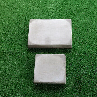2 Large Smooth Cobblestone Moulds Mold Concrete Cement Plaster Garden Ornament