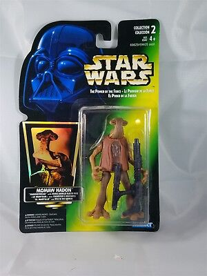 Star Wars POTF Bilingual Card Momaw Nadon w/Double Barreled Blaster Rifle NIP