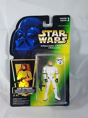 Star Wars POTF Bilingual Card Luke Skywalker in Stormtrooper Disguise  NIP