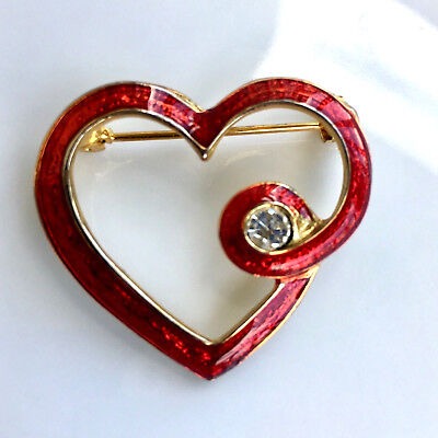 Coldwater Creek Red Heart Pin/Brooch