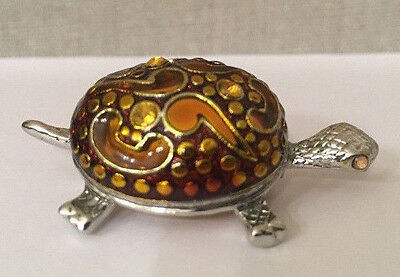 Coldwater Creek Turtle with yellow eyes Pin/Brooch