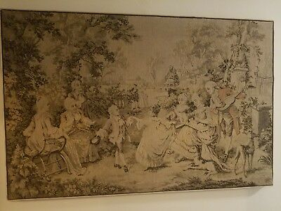 Antique French Large Hanging Wall tapestry 5ft x 3ft