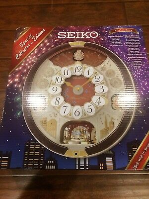 Seiko 24 Melodies in Motion 2017 Musical Christmas Wall Clock Collector Edition
