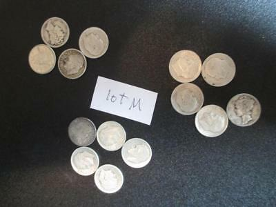 Lot Of 14 Silver Dimes - Various Dimes & Dates As Shown -See All Scans -(AI12)
