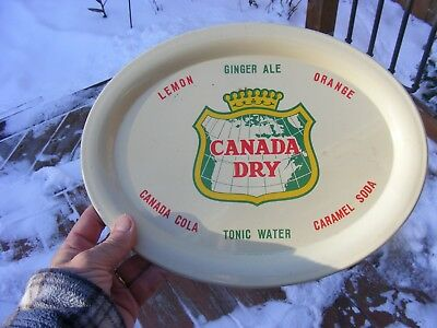 Vintage Canada Dry Advertising Tray Old Soda  Tray Canada Dry All Drinks Nr