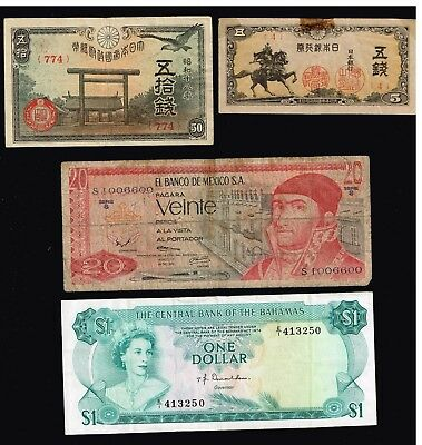 World Paper Money Bank Note Collection Lot  - #f-4