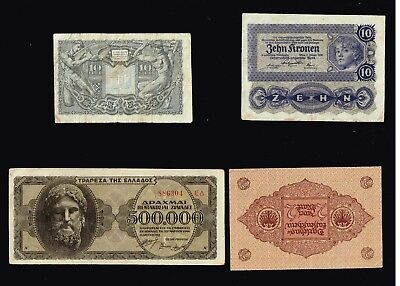 World Paper Money Bank Note Collection Lot  - #f-6