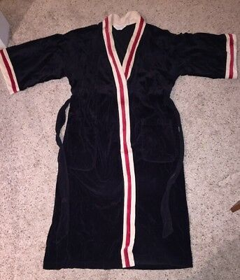 Vintage Christian Dior Monsieur Velour Red/Black Robe (One Size)