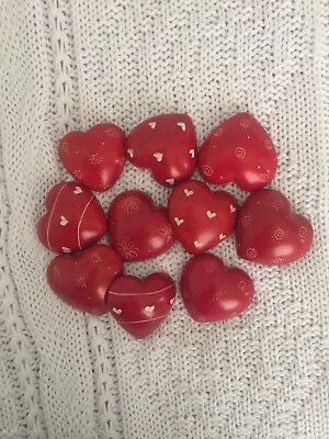African Soap Stone Red Heart Magnets