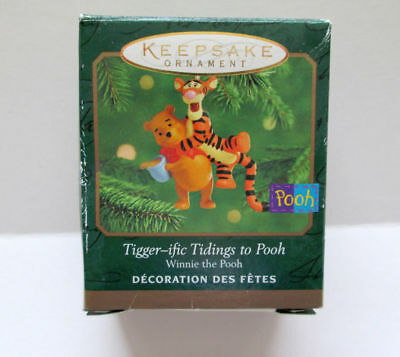 NEW - 2000 Hallmark Miniature Christmas Ornament Tigger-ific Tidings Winnie Pooh