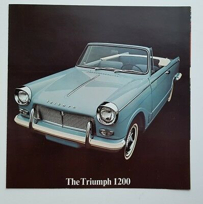 1964 Triumph 1200 Car Sales Brochure Catalog Litho USA