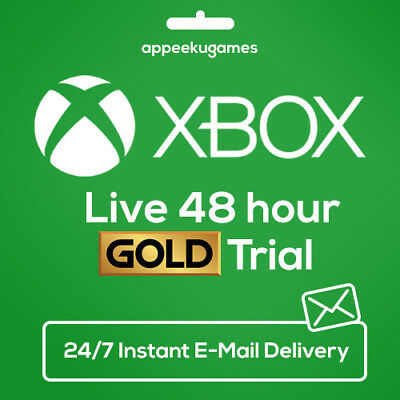 Xbox Live 2 Day 48Hr Gold Trial Code 48 Hour Instant Dispatch