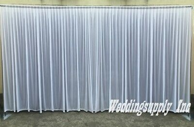 White Wedding Backdrop 3m High 6m Wide Venue Curtain Drape Event Supply