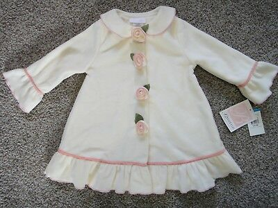 Girls 24 Months 2T BONNIE JEAN BABY IVORY COAT JACKET w Rosebud Buttons NEW