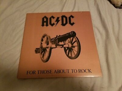 AC/DC For Those About to Rock, Vinyl Record Album, Classic Rock, Heavy Metal