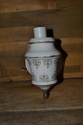 Vintage White Porcelain Wall Sconce Light Fixture Wall Mount Thomas Industries
