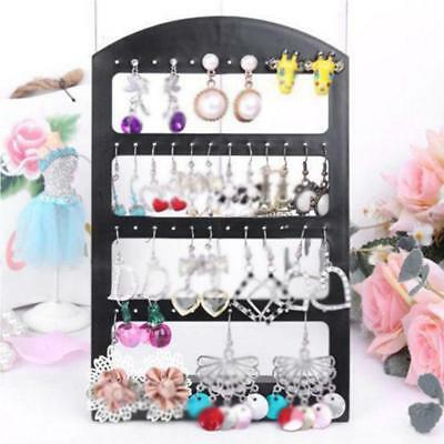 48 Holes Plastic Earrings Stand Display Show Jewelry Organizer Holder Showcases
