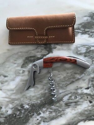New. Mulholland Brothers Corkscrew With Leather Case.