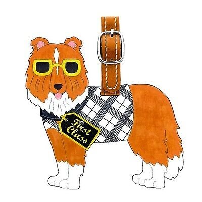 New Sheltie Dog Little Gifts Luggage Tag for Luggage, Purse, Pet Carrier