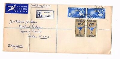 1964 South Africa Registered Hillcrest Airmail Cover From Collection X1