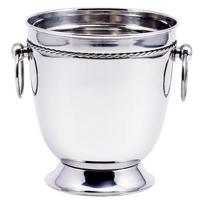 4.75 qt. Stainless Steel Champagne Wine Ice Bucket Chillers Cooler Handles New