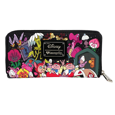 Disney - Alice In Wonderland All Over Character Print Loungefly Wallet - Loot -