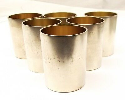 Antique German 800 Silver Tot Cup Lot Set of 6 Brems-Varain Cordial Shot Glass