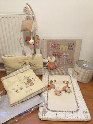 """Lovely nursery room set """"Murphy and Me"""" theme from Mamas & Papas, VGC!"""