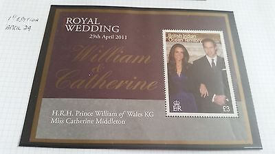 British Indian Ocean Territory 2011 Sg Ms459 Royal Wedding (1St Issue)Mnh