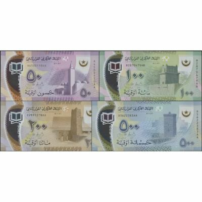 TWN - MAURITANIA NEW 50-100-200-500 Ouguiya 2017 (2018) UNC Polymer Set of 4