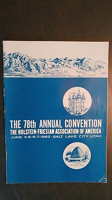1963 National Holstein-Friesian Convention Souvenier Book Salt Lake City Utah