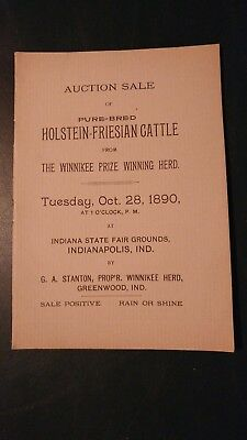 1890 The Winnikee Farm Holstein-Friesian Sale Catalog - Greenwood Indiana