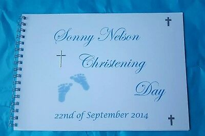 Personalised Christening/ Baptism / naming day Guest Book