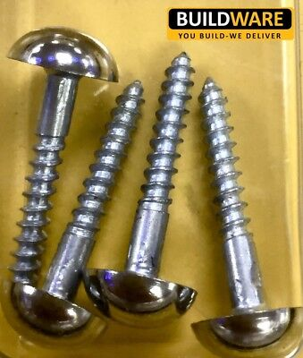 Mirror Screw Zinc Plated Bag Of 4 Screws Chrome Plated