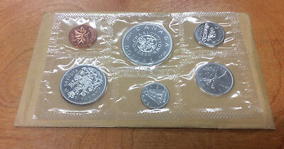 1964 Proof-Like Canadian coin set in Original Cello & Envelope 80% silver