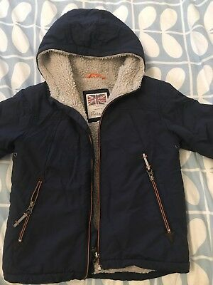 Boden Sherpa Lined Boys Coat Age 4-5