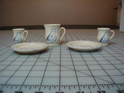 American Girl Kirsten Doll Rowe Pottery 5 pcs Dishes Pleasant Co.