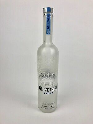 1,75l Belvedere Vodka Liter LED Flasche leer deko Empty Bottle Licht