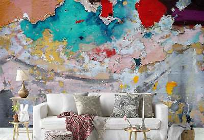 Old wall Paint layers Grunge Photo Wallpaper Wall Mural (FW-1058)