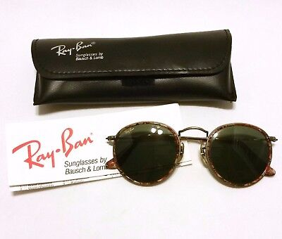 VTG RARE Bausch & Lomb RAY BAN Gold Wire Rimmed Brown Tortoise Marble Sunglasses