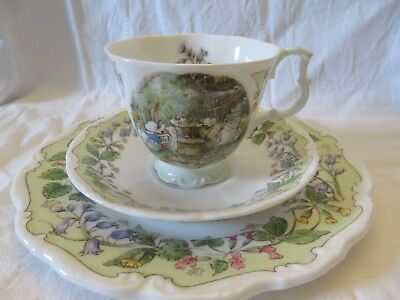 Royal Doulton brambly hedge/brombeerhag,The Meeting,3-tlg, Tasse&Teller,1993