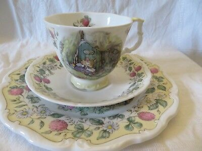 Royal Doulton brambly hedge/brombeerhag,The Plan,3-tlg, Tasse&Teller,1993
