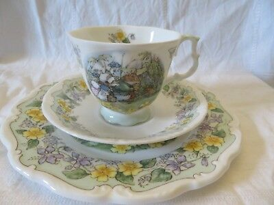 Royal Doulton brambly hedge/brombeerhag,The Outing,3-tlg, Tasse&Teller,1993
