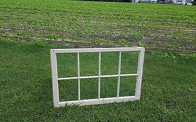 VINTAGE SASH ANTIQUE WOOD WINDOW PICTURE FRAME PINTEREST WEDDING 8 PANE 36x23