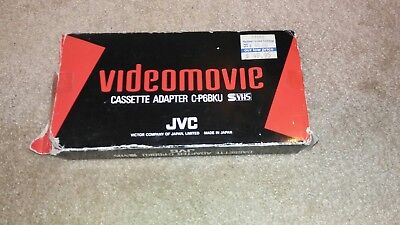 CASSETTE ADAPTER JVC C-P6U S VHS C Motorized (Excellent Condition)