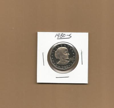 1980 P D S & S Susan B Anthony Dollars 4 Coin Set Mint & Proof