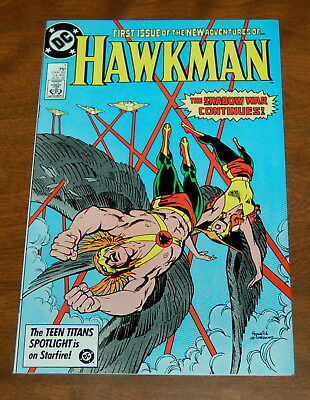 HAWKMAN #1  BRONZE AGE DC COMIC - HIGH GRADE NM- 1986 Shadow War