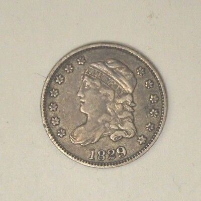 1829 Philadelphia 5C Capped Bust Silver Half Dime Nice Circulated No Reserve