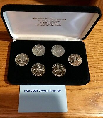 1992 USSR Olympic Proof Set 6 Commemorative Coins Minted in 1991 Rare
