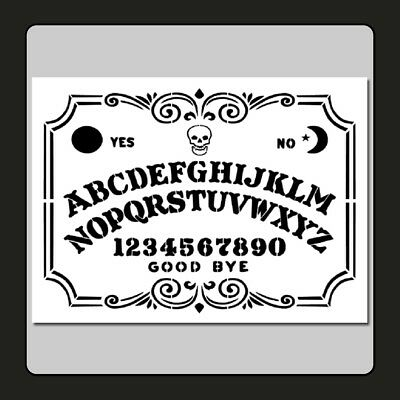9 X 12 Decorative Ouija/Spirit Board STENCIL Skull/Supernatural/Ghost/Halloween